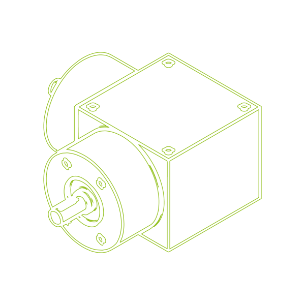 Kegelradgetriebe   KSZ-H-10-L   Übersetzung 2:1