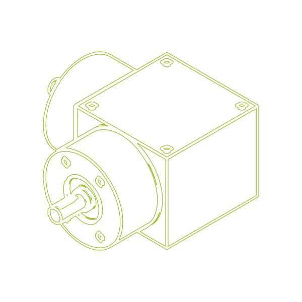 Kegelradgetriebe | KSZ-H-10-L | Übersetzung 3:1