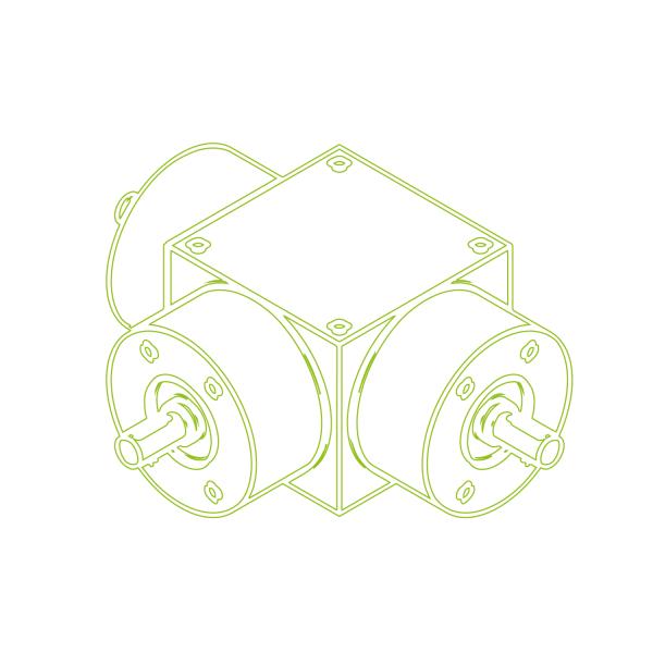 Kegelradgetriebe | KSZ-H-100-T | Übersetzung 1:1
