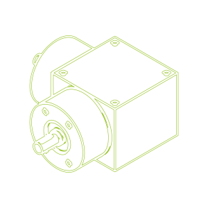 Kegelradgetriebe   KSZ-H-150-L   Übersetzung 2:1