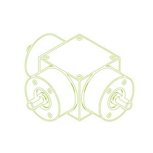 Kegelradgetriebe | KSZ-H-25-T | Übersetzung 2:1
