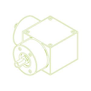Kegelradgetriebe   KSZ-H-35-L   Übersetzung 3:1