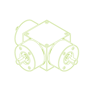 Kegelradgetriebe | KSZ-H-35-T | Übersetzung 1:1