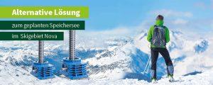 ZIMM bietet alternative Lösung zum geplanten Speichersee im Skigebiet Nova