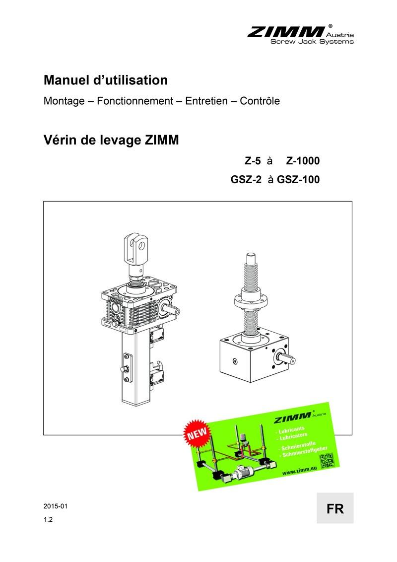 Betriebsanleitung | Hubgetriebe | Französisch
