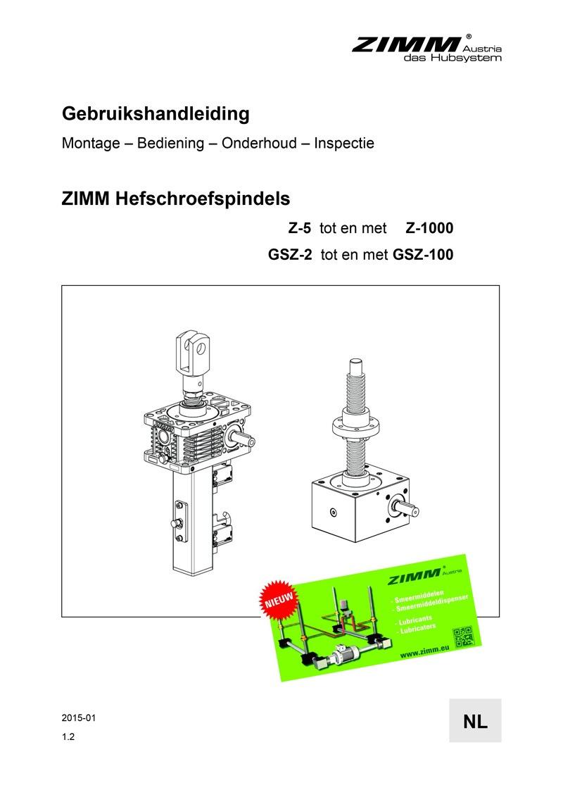 Betriebsanleitung | Hubgetriebe | Niederländisch