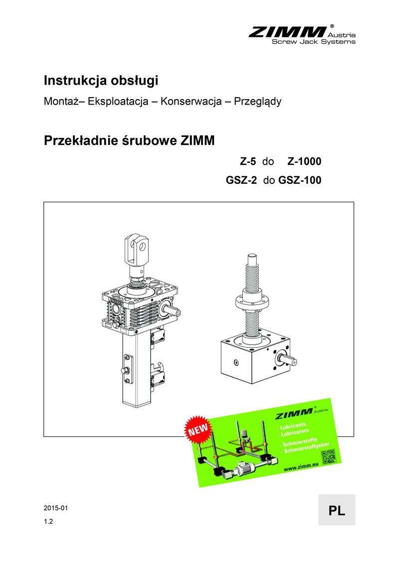 Betriebsanleitung | Hubgetriebe | Polnisch