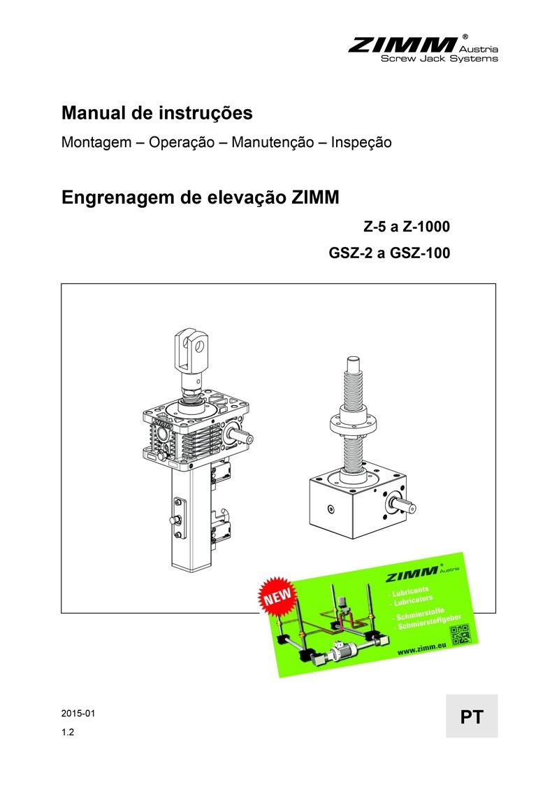 Betriebsanleitung | Hubgetriebe | Portugiesisch