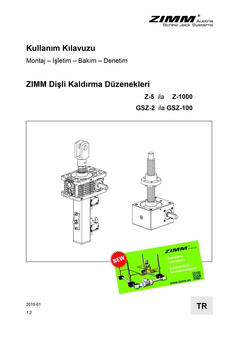 Hubgetriebe | Betriebsanleitung | Türkisch