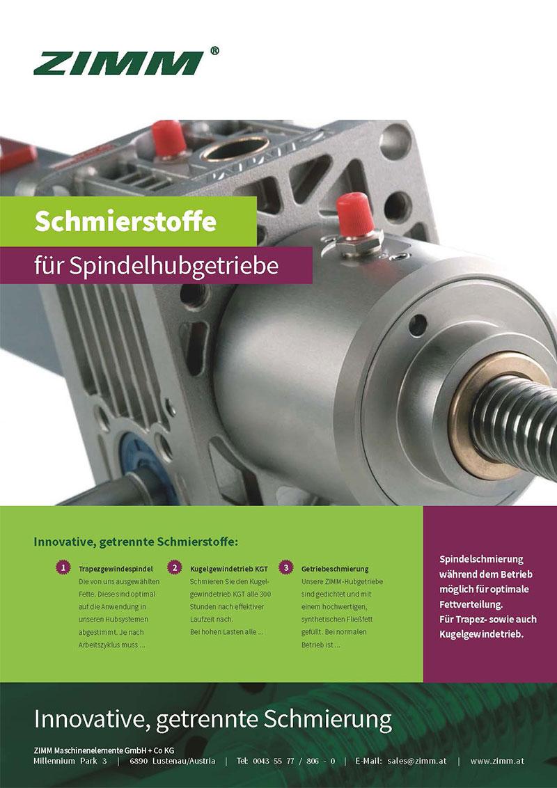 Schmierstoffe fuer Spindelhubgetriebe | Deutsch