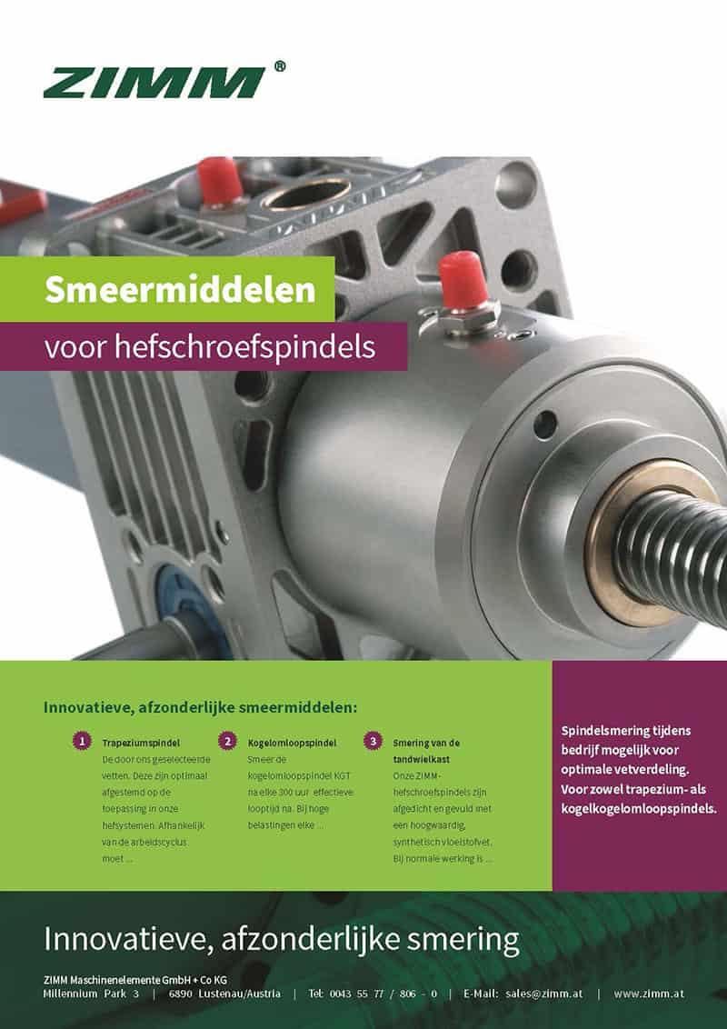 Schmierstoffe fuer Spindelhubgetriebe | Niederländisch