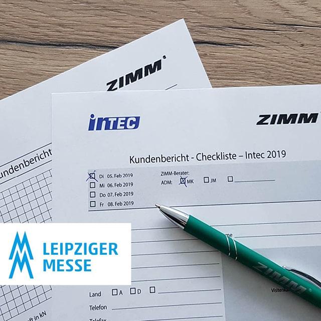 ZIMM auf der Intec 2019 in Leipzig