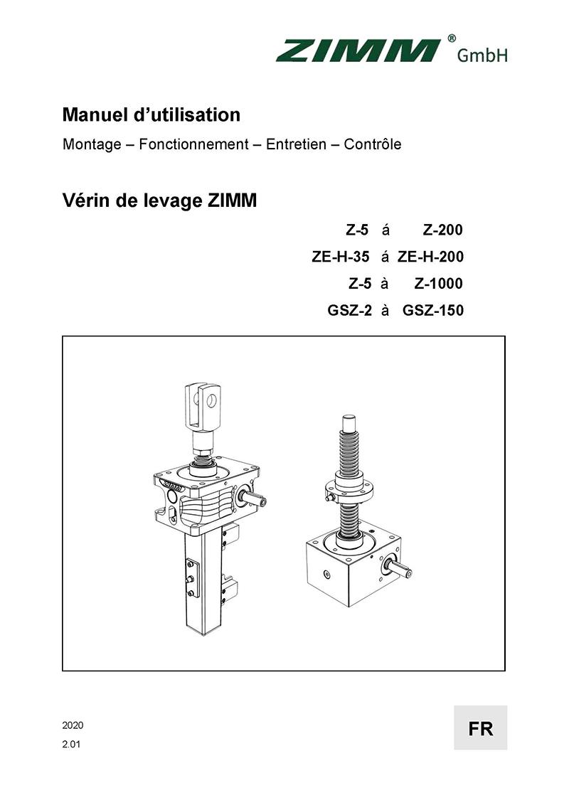 Betriebsanleitung 2.0 | Hubgetriebe | Französisch
