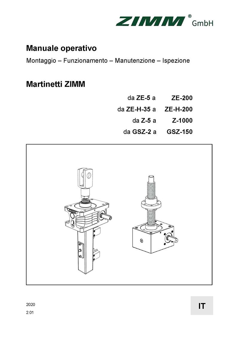 Betriebsanleitung 2.0 | Hubgetriebe | Italienisch