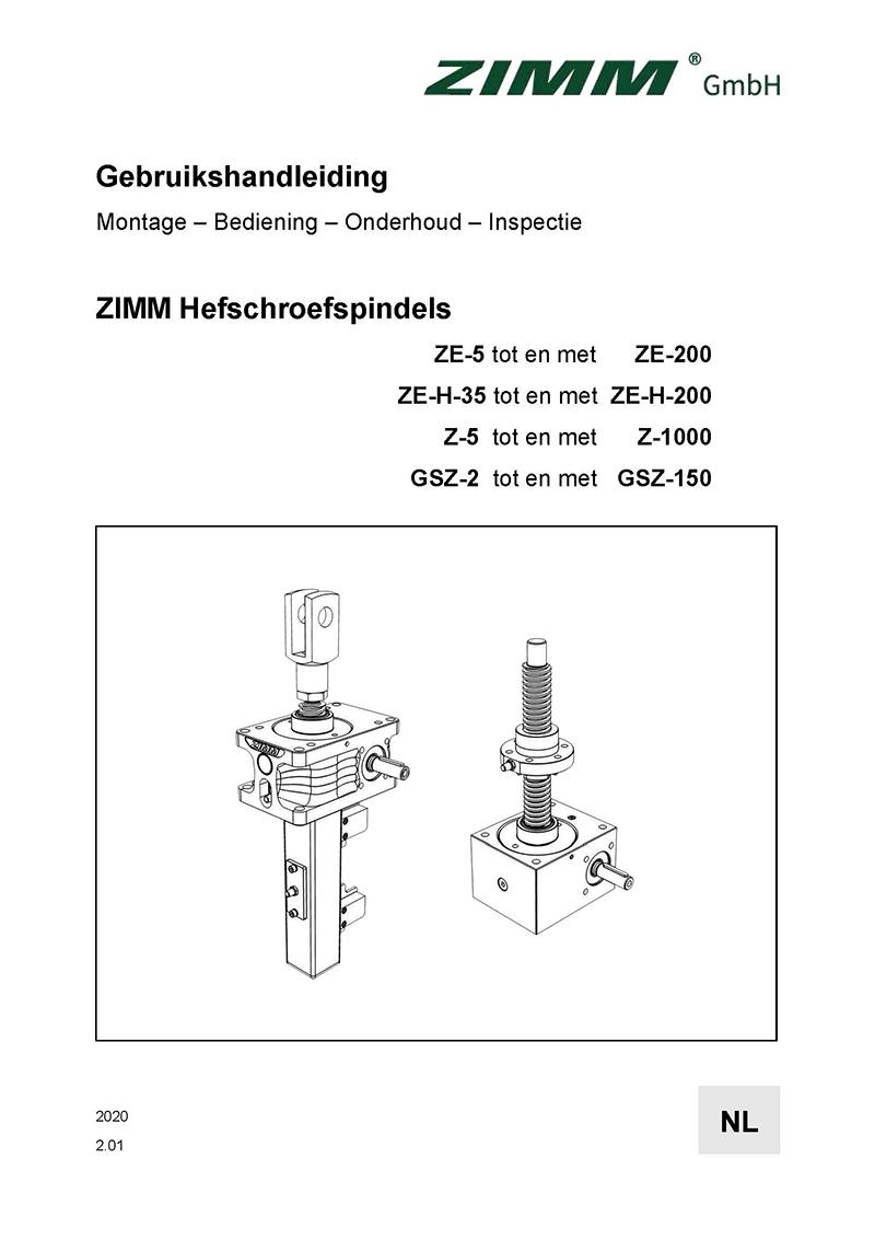 Betriebsanleitung 2.0 | Hubgetriebe | Niederländisch