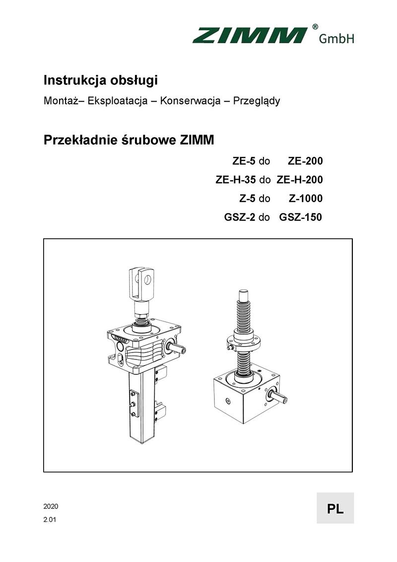 Betriebsanleitung 2.0 | Hubgetriebe | Polnisch