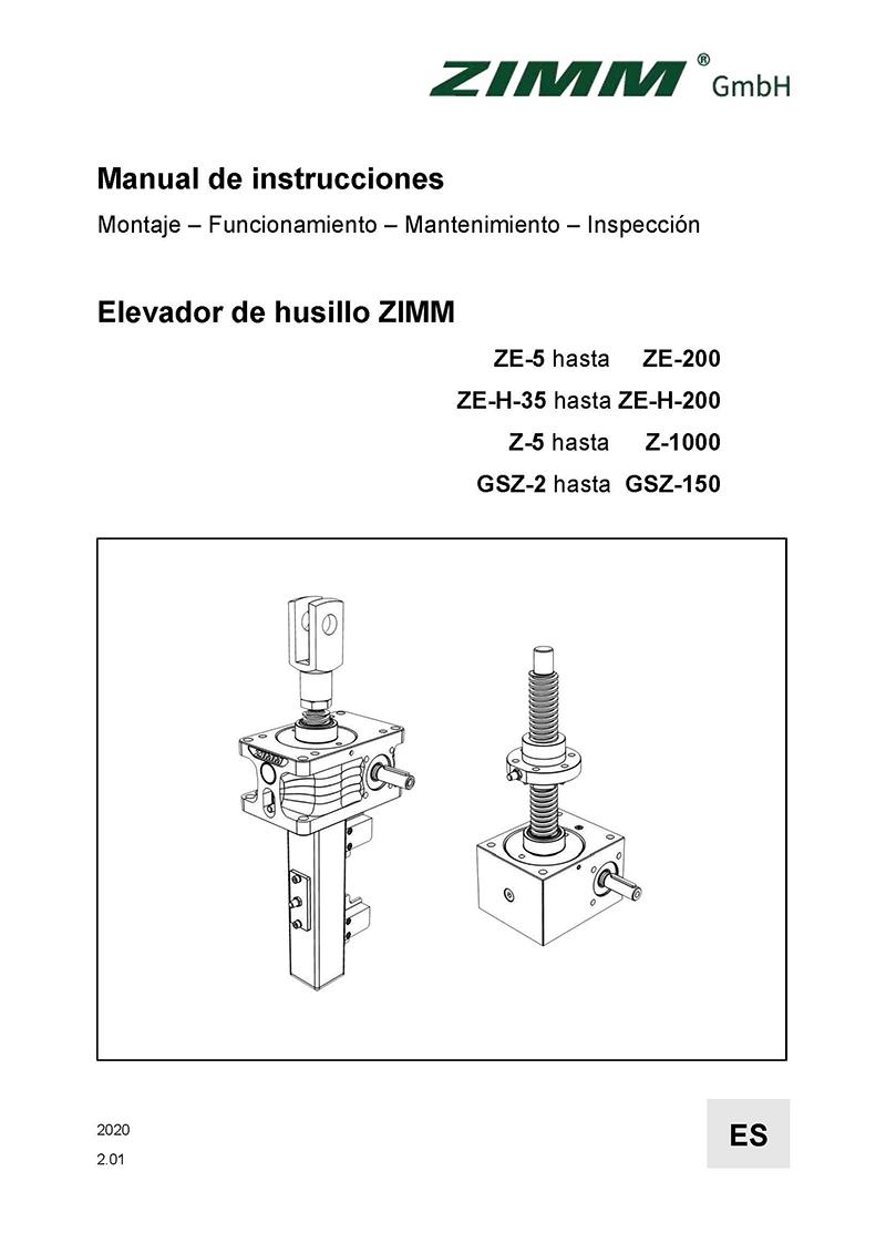 Betriebsanleitung 2.0 | Hubgetriebe | Spanisch