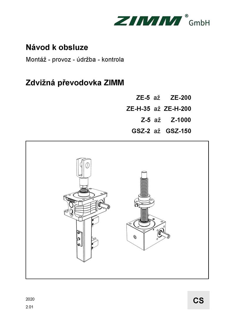 Betriebsanleitung 2.0 | Hubgetriebe | Tschechisch