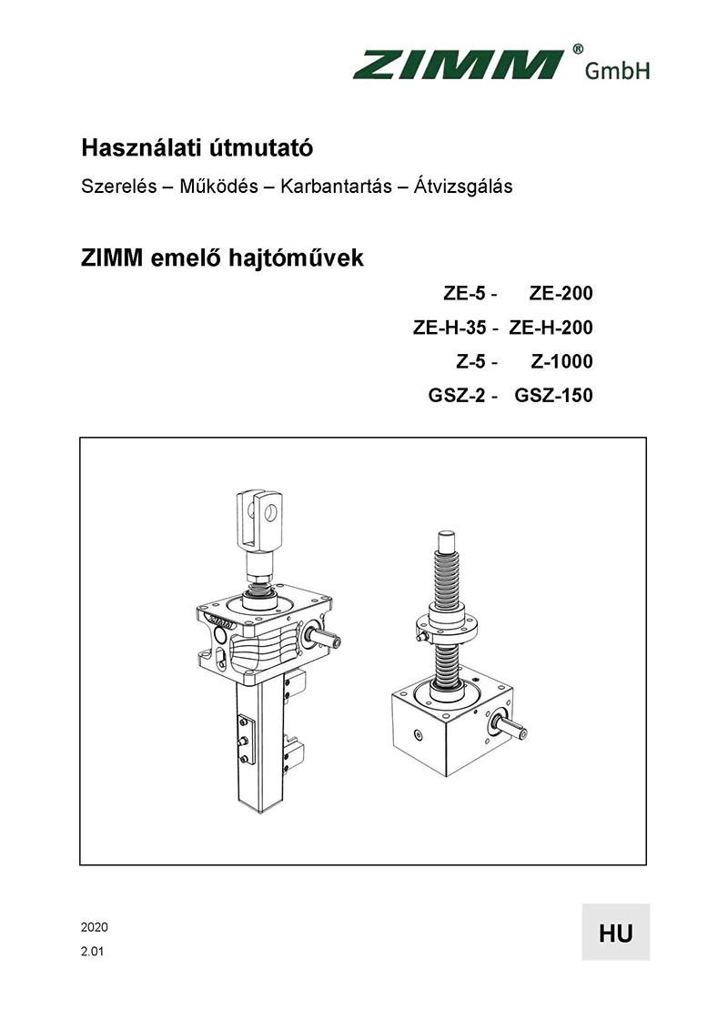 Betriebsanleitung 2.0 | Hubgetriebe | Ungarisch