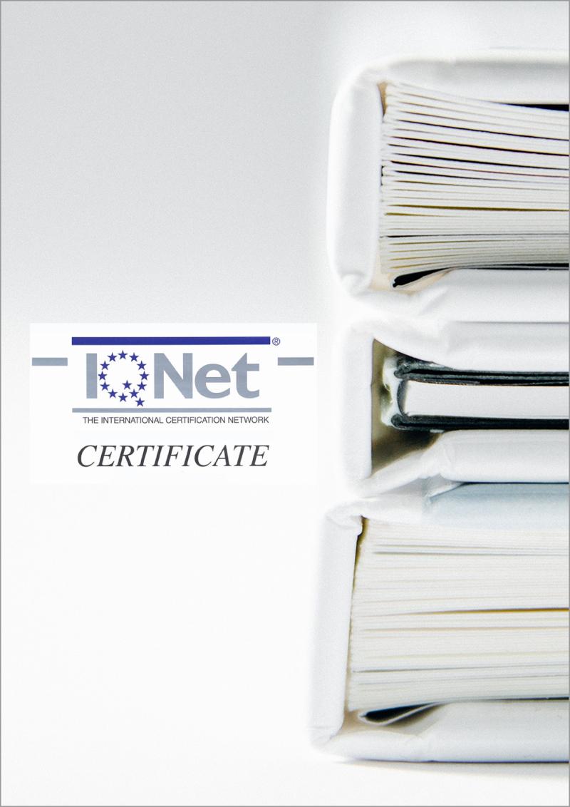 IS09001_Zertifikat International